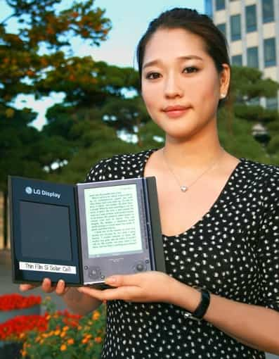 LG solar cell ebook reader 01