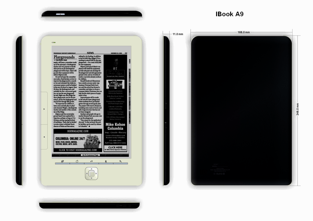 jinke a9 ebook reader 1