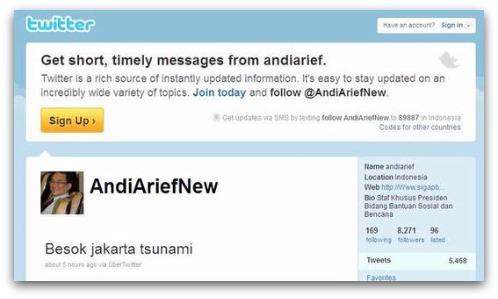 tsunami tweet