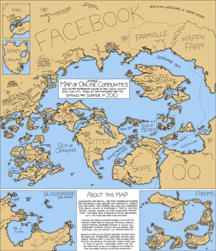 mapa comunicación mundial