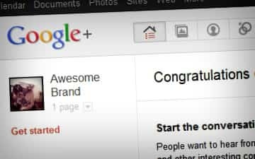 google plus brand page 360