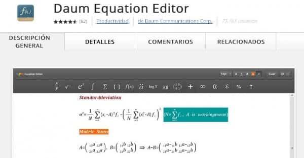 matemáticas navegador