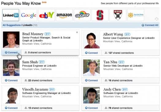 LinkedIn PYMK New