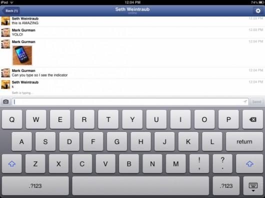 FacebookMessengeriPadBeta