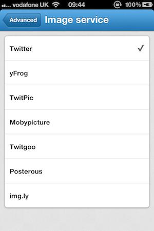 servicios Twitter