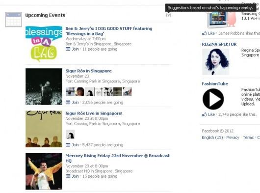 Nuevo feed eventos Facebook