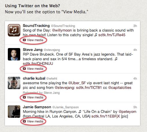 Aplicación para compartir música en Twitter