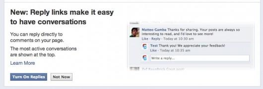 replies facebook