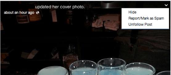 Facebook ocultar