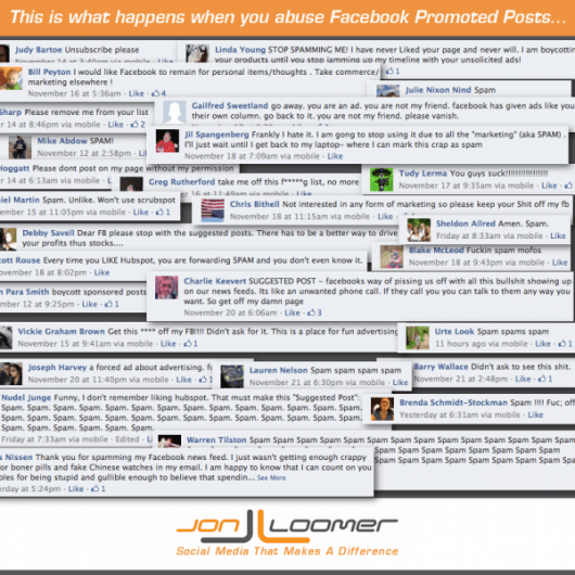 spam Facebook promote