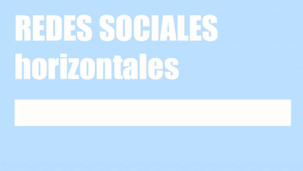 redes sociales horizontales
