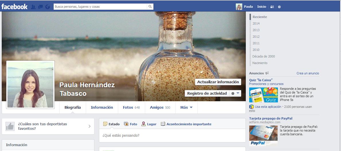 cómo eliminar el historial de facebook 1