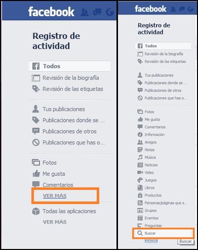 cómo eliminar el historial de facebook ver más buscar
