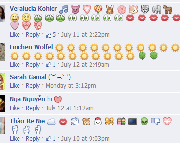 Facebook ¡prueban usar emoticonos en comentarios!