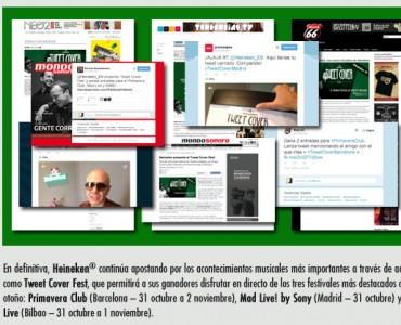 Tweet Cover Fest de Heineken fue un éxito