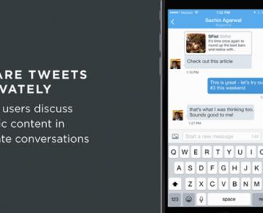 Compartir tuits en mensajes directos de Twitter