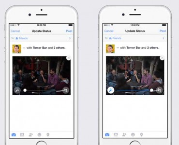 Facebook para iOS y el retoque automatizado de fotos
