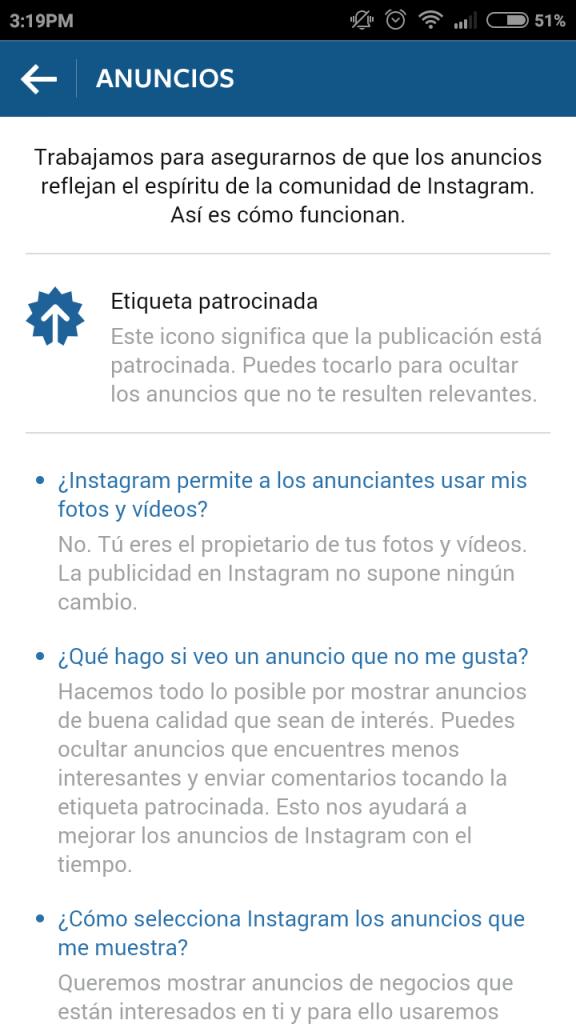 anuncios instagram