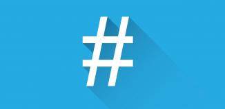 hashtag en social media