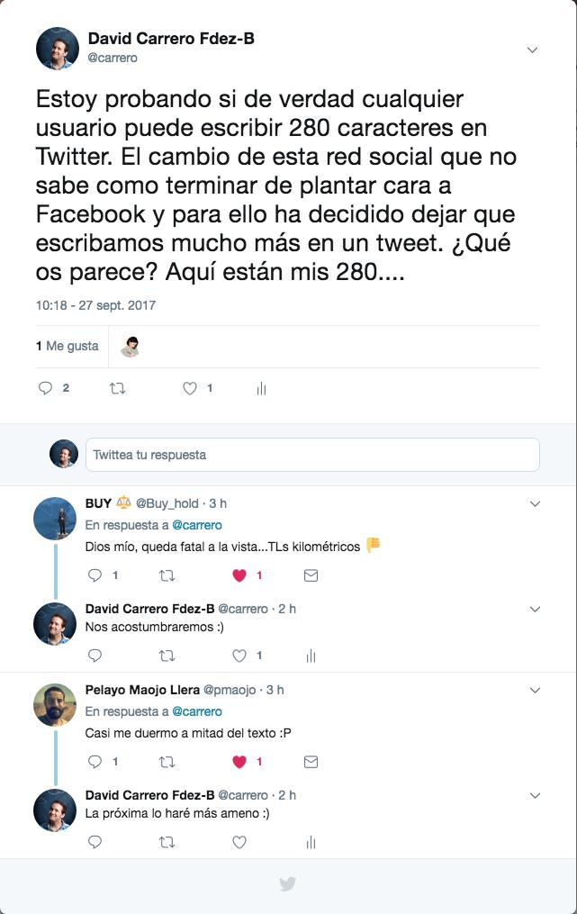 280 caracteres twitter carrero.