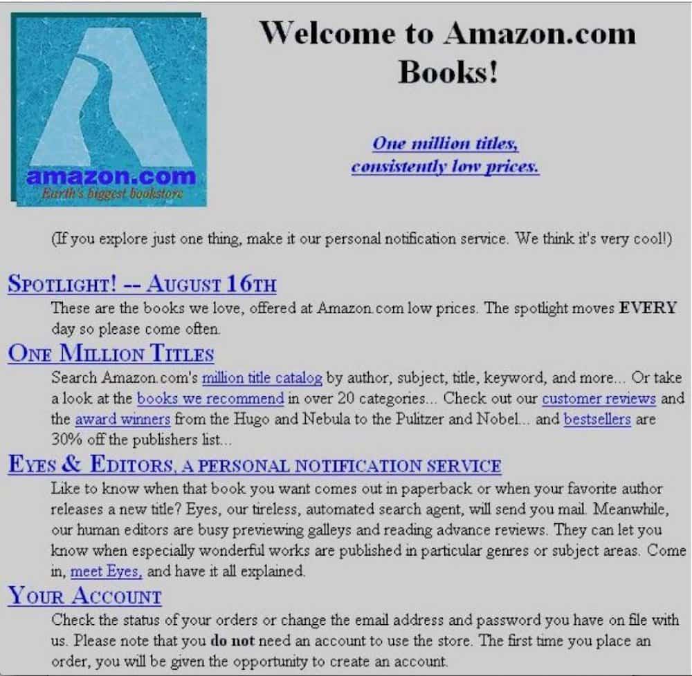 Web Amazon.com 1995